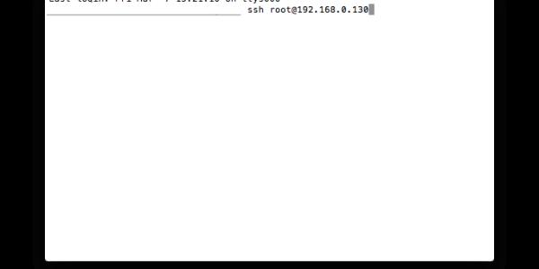 ssh root@192.168.0.130