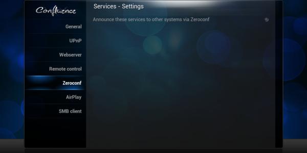 Service Settings – Zeroconfig